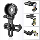 Universal Phone Adapter Mount - Compatible Binocular Monocular Spotting Scope Telescope Microscope - Fits Almost All Smartphone, Record The Beautiful Life