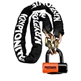 Kryptonite New York Chain 1217 (12Mm X 170Cm) with Evs4 Disc 14Mm Shackle Locks, One Size